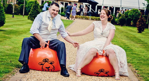Wedding Day Space Hoppers