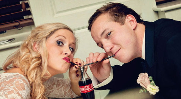 Funny Bride & Groom Wedding Photography